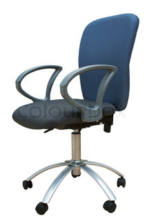 Blue chair for office on a white background