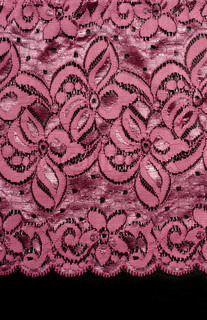 Decorative lace with pattern on black background