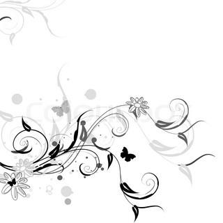 Florale Muster mit Schmetterlingen