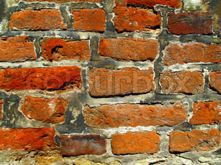 very old brick wall background