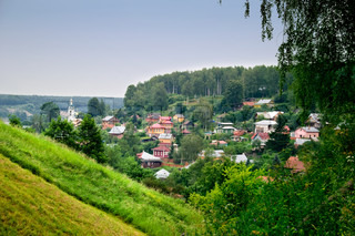 view of the small russian town of Plyos