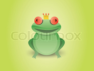 Frog prince with a crown