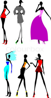Sechs Fashion Long Legs Girls.