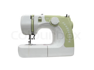 sewing machine under the white background