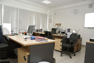 an interior at  the office