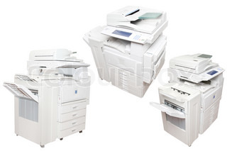 inkjet printers under the white background