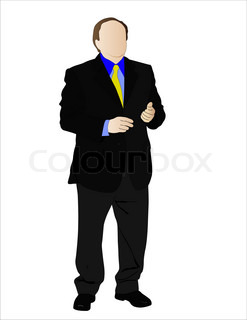 Vector illustration of businessman under the white background