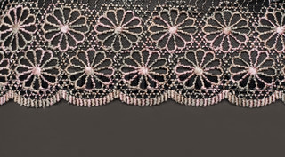 Decorative lace with pattern on gray background