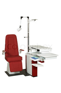 The modern medical equipment on a white background