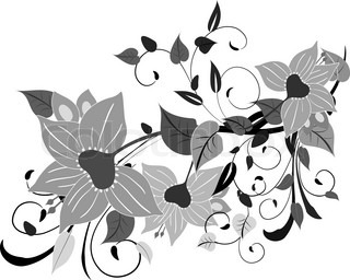 Abstract Colorful Vector Illustration With Tropical Flowers