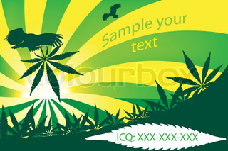 Cannabis visit card, vector illustration
