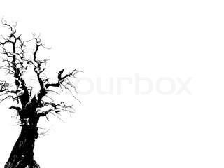 Billede af 'bepoten, outline, tree'