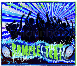 Vector of 'dance, design, concert'