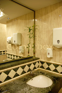 bathroom luxury interior with greenish and cream marble design