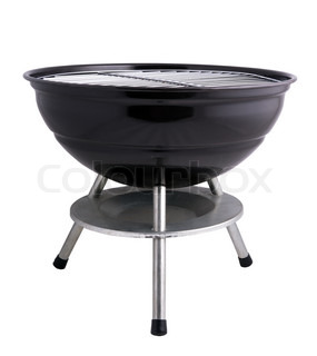 kettle barbecue grill isolated on white