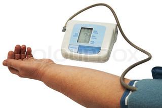 digitale blodtryksapparat på en hvid baggrund