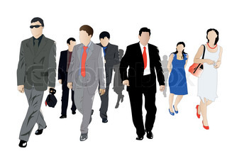 Vector illustration of crowd