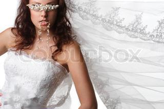 A beautiful woman at wedding