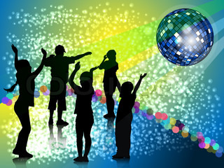 nursery evening party in style disco