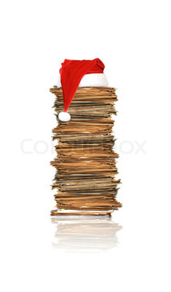 Heap of papers, christmas gift