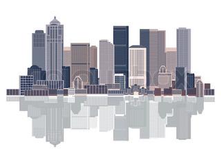 Grafiken von 'Skyline, aufragen, Hintergrund'