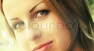smiling mysterious woman pretty face