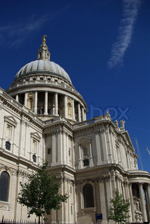 View on St`Pauls Cathedral, London