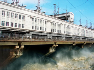 On Hydro power plant is drained excess water