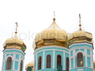 Winter. Russian church. Old architecture.