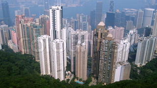 Hong Kong city new district birdeye view