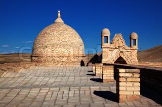 Detalje af arabisk arkitektur i Kasakhstan