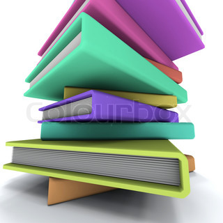 Pyramid of the dummies books. On white background.