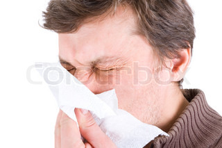 Image of 'flu, sneezes, man'
