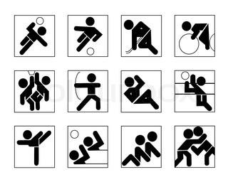Vektor af 'Sport, motion, sport'