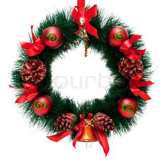 Christmas  Decoration garland. Isolated over white background