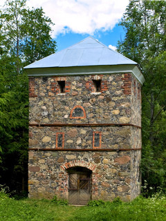 Old stone tower in the forest stock photo colourbox - The house in the old franciscan tower ...