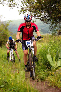 Baranov (N12) in action at Adventure mountain bike cross-country competition