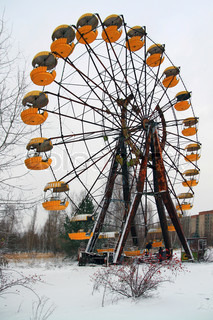 Amusement park in the the city of Pripyat, abandoned after disaster at the Chernobyl nuclear power plant in 1986