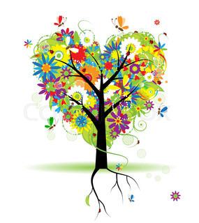 Vektor af 'sjovt, Funny, Tree'
