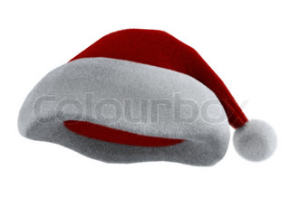 Santa Claus's red hat isolated on white. 3d render