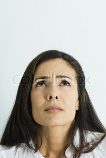 Image of 'anxiety, woman, worried'