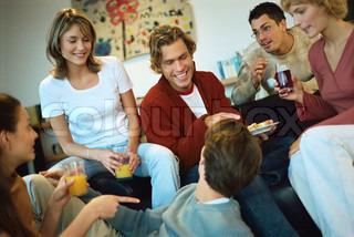 Indsamling af venner på fest