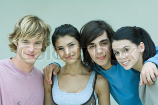 Image of 'group, teenage boy, outside'