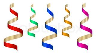Vektor- farbiges Band Stream