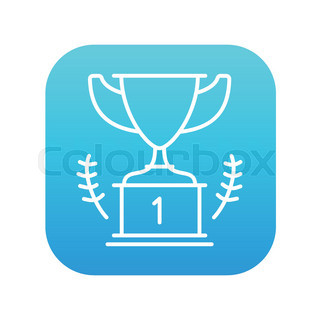 Trophy Vector Sketch Icon Isolated On Background Hand Drawn
