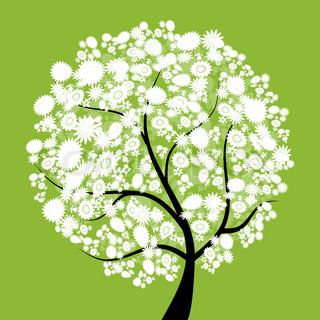 Vector of 'silhouette, tree, beauty'