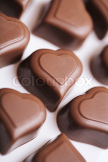 Heart shaped valentine's day chocolates