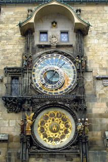 Famous Astronomical Clock at the Old Town Hall in Prague, Czech Republic