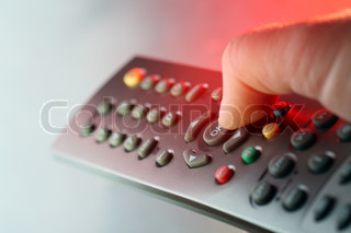 Digital television remote control in red light