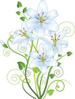 Vektor af 'blomst, forretninger, grænsen'